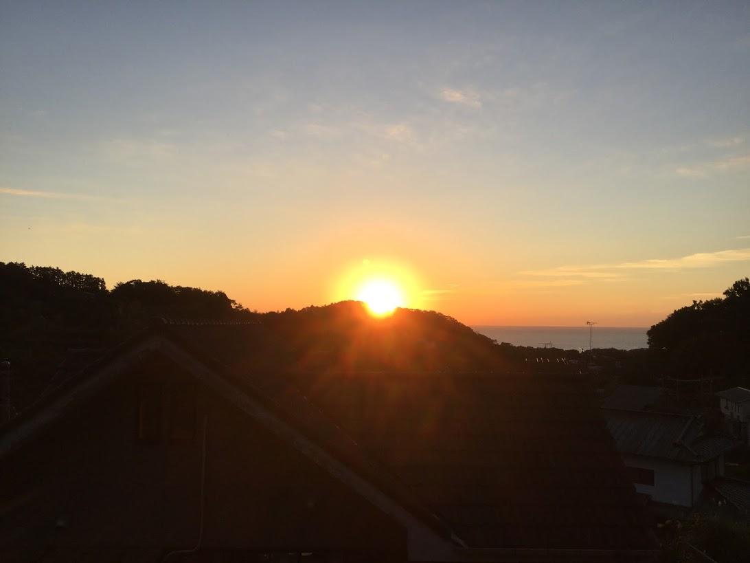 田舎暮らし 朝日 日の出