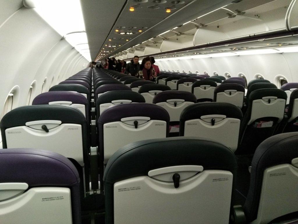ピーチエア国際線A320-200シート全景