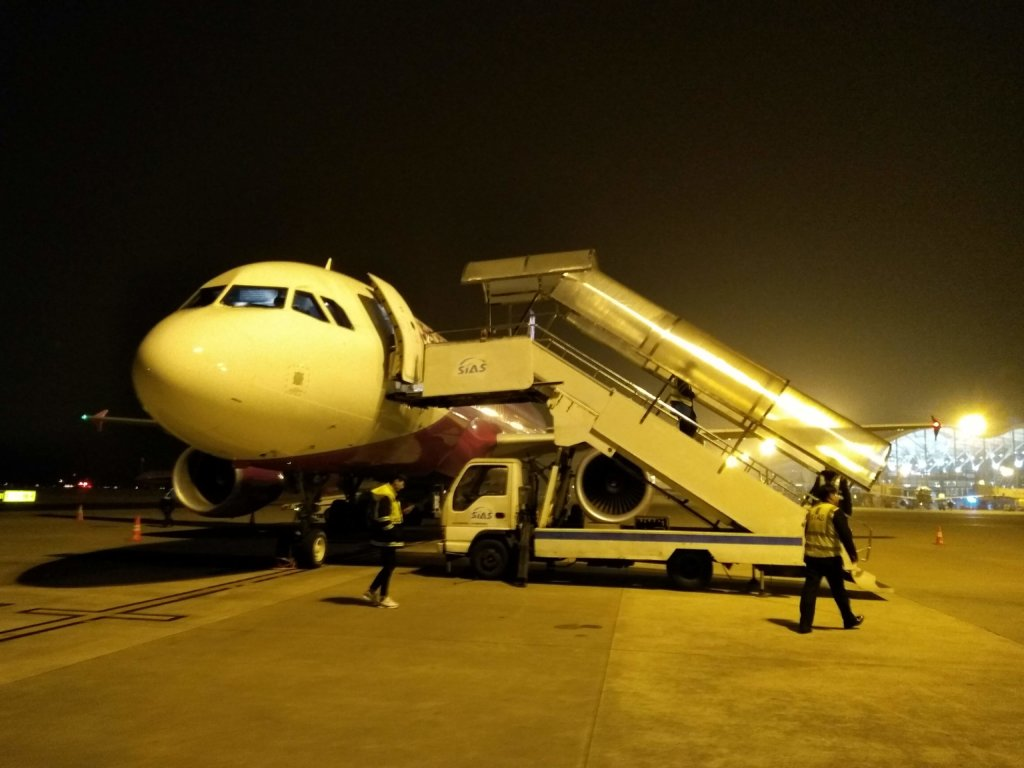 ピーチエア エアバスA320-200 上海浦東国際空港第2ターミナル