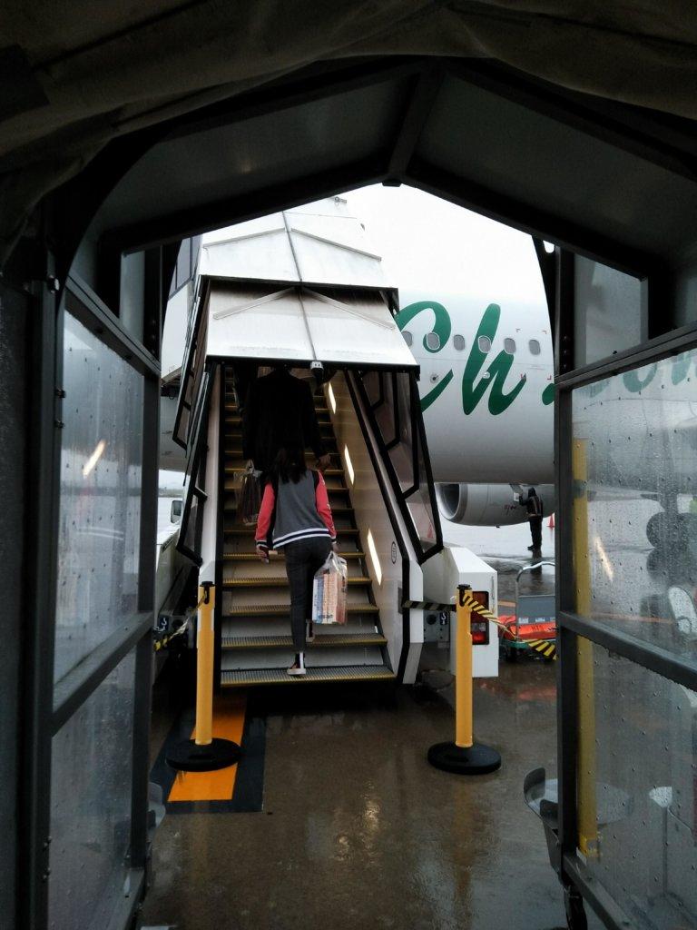茨城空港の春秋航空の国際線に乗る